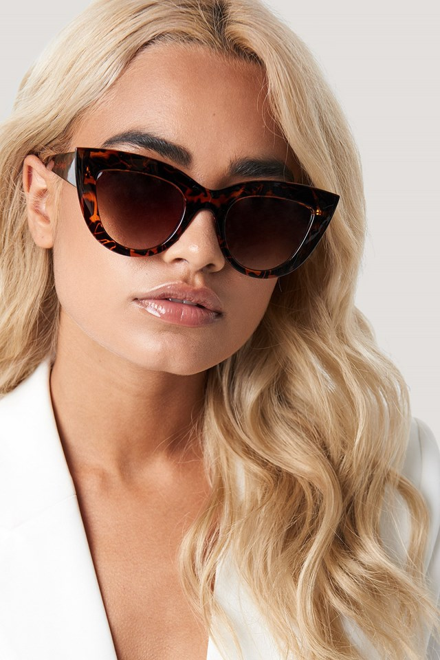 Chunky Pointy Cat Eye Sunglasses Tortoise