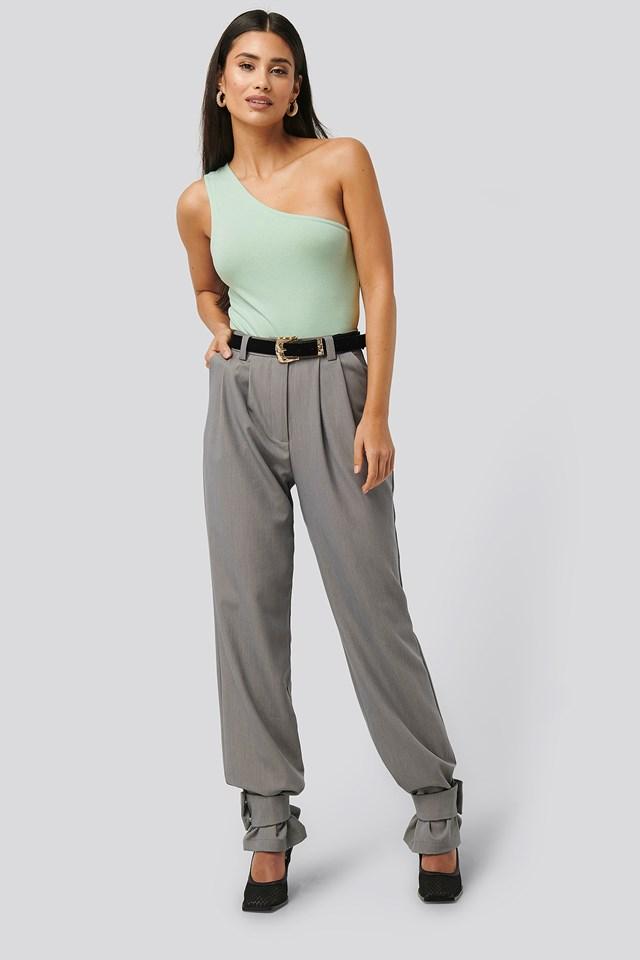 Closure Suit Pants Grey