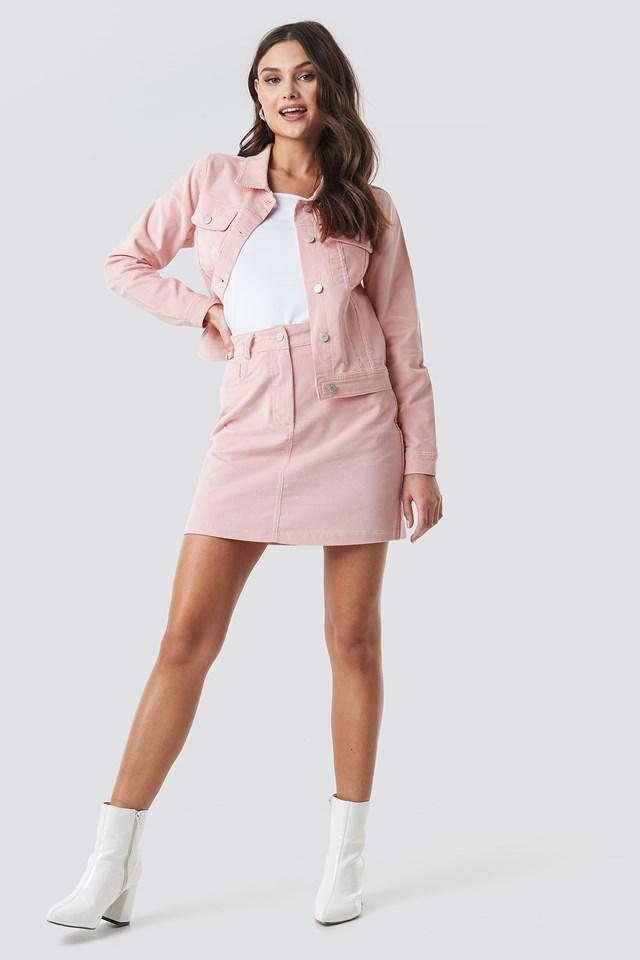Rose Quartz Co-ord Corduroy Mini Skirt