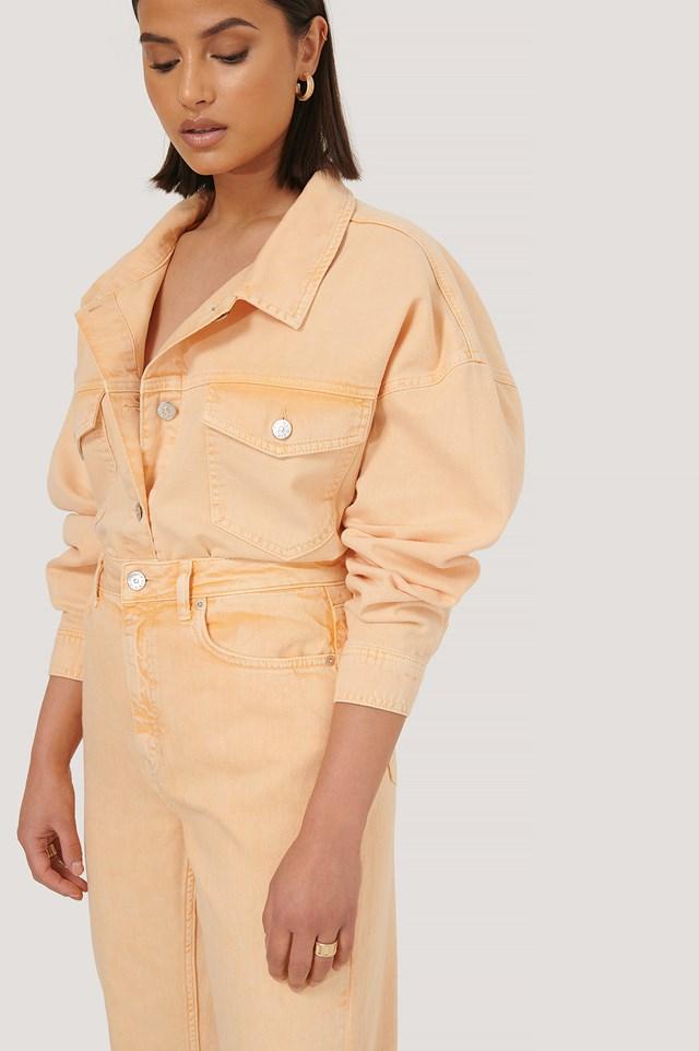 Dżinsowa Koszula Bez Obszyć Orange