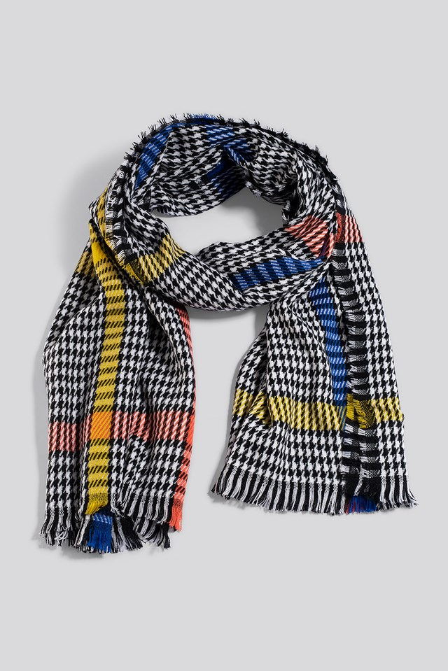 Colorful Dogtooth Scarf Mixed