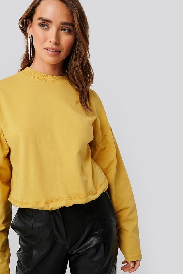 Contour Seam Deatil Sweater Yellow