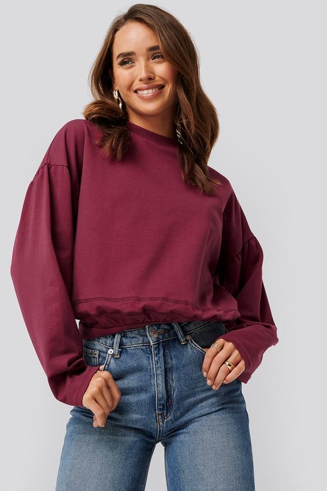 Contour Seam Deatil Sweater Plum