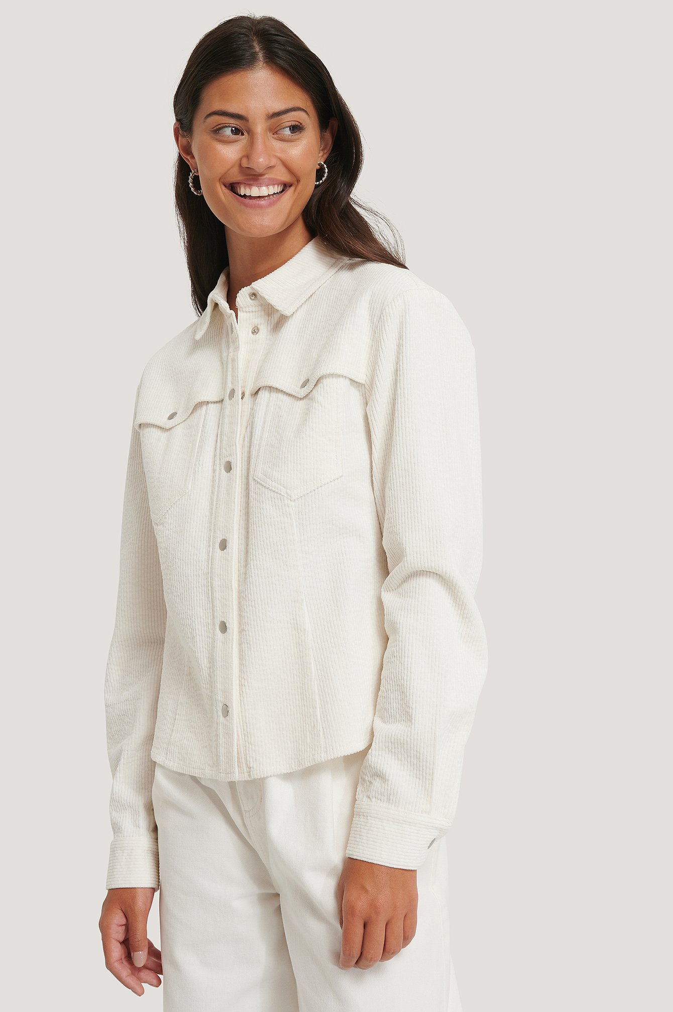 Offwhite Corduroy Double Pocket Overshirt
