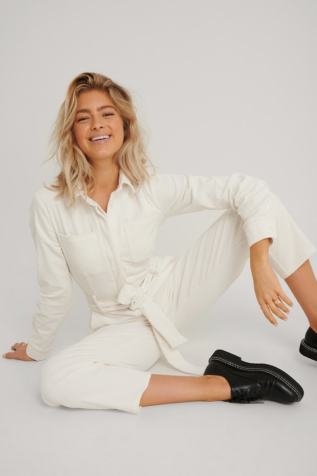 Corduroy Jumpsuit Offwhite