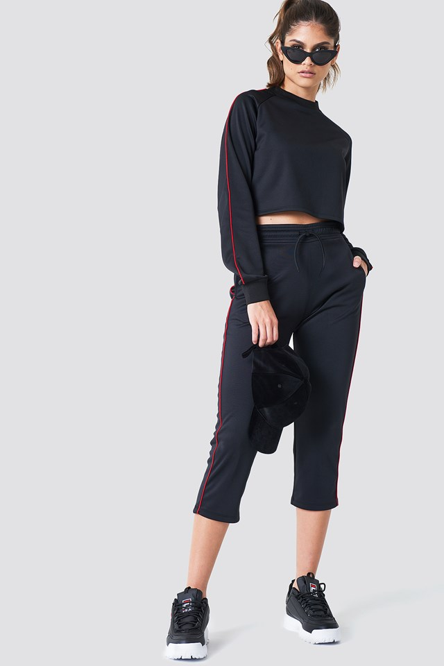 Cropped Track Pants Red