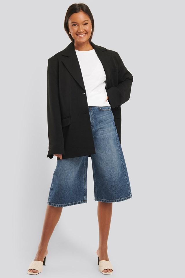 Culotte Jeans Mid Blue