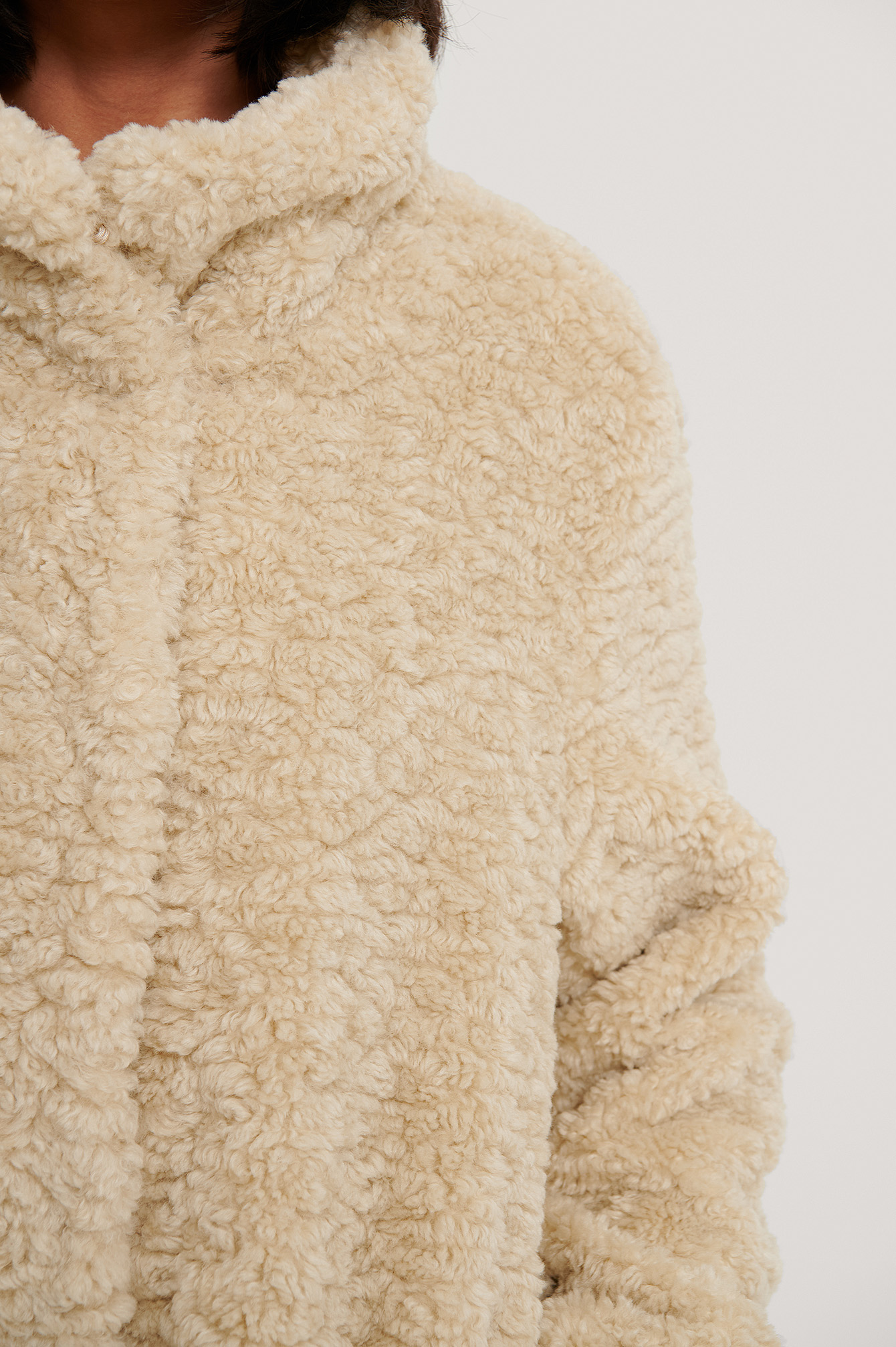 White Curly Teddy Jacket