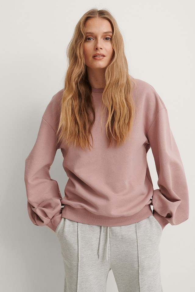Pink Cut Out Oversized Sweatshirt