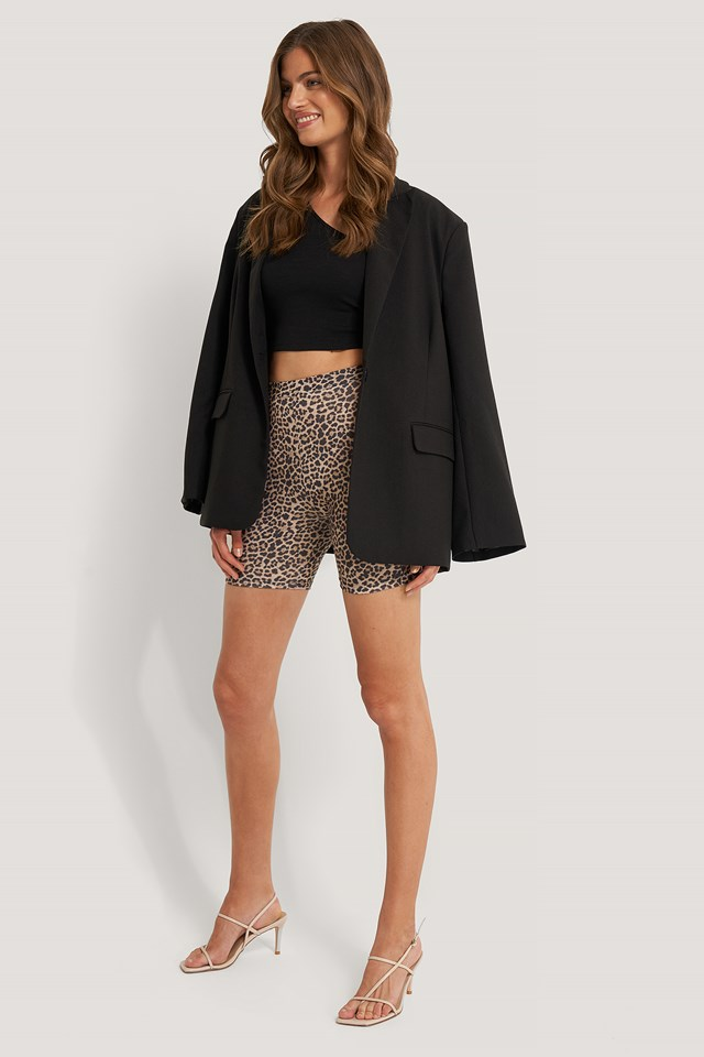 Leopard Cycle Shorts