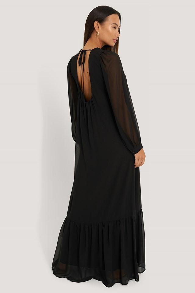 Black Długa Sukienka