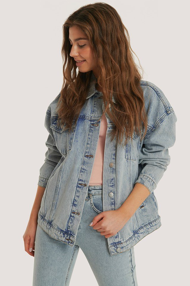 Denim Oversized Jacket Light Blue