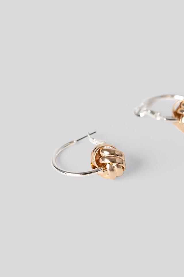Detail Hoop Earrings Silver