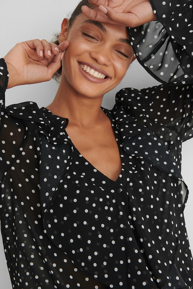Dotted Blouse Black/White dots