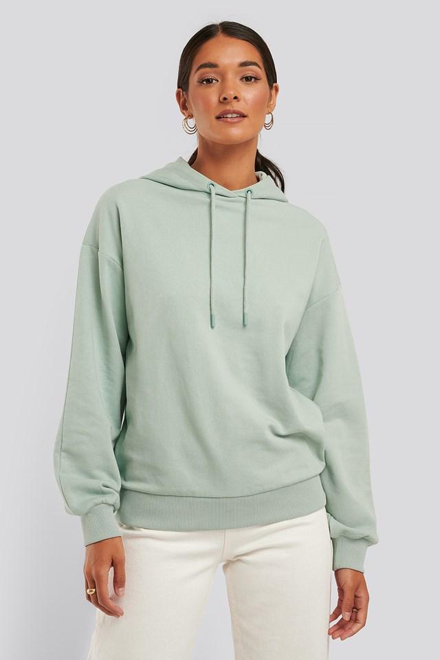 Bluza Z Kapturowaniem I Sznurowaniem Green