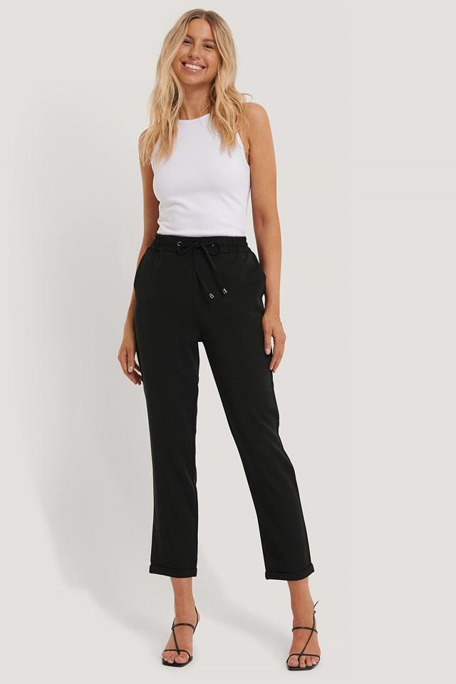 Drawstring Pants Black