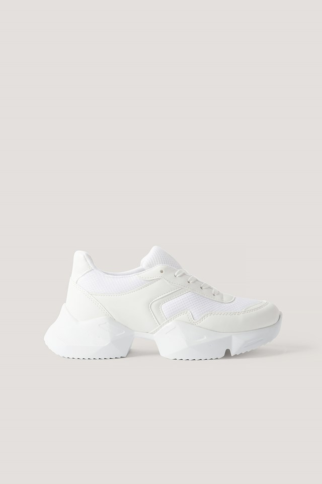 White Edged Sole Chunky Trainers