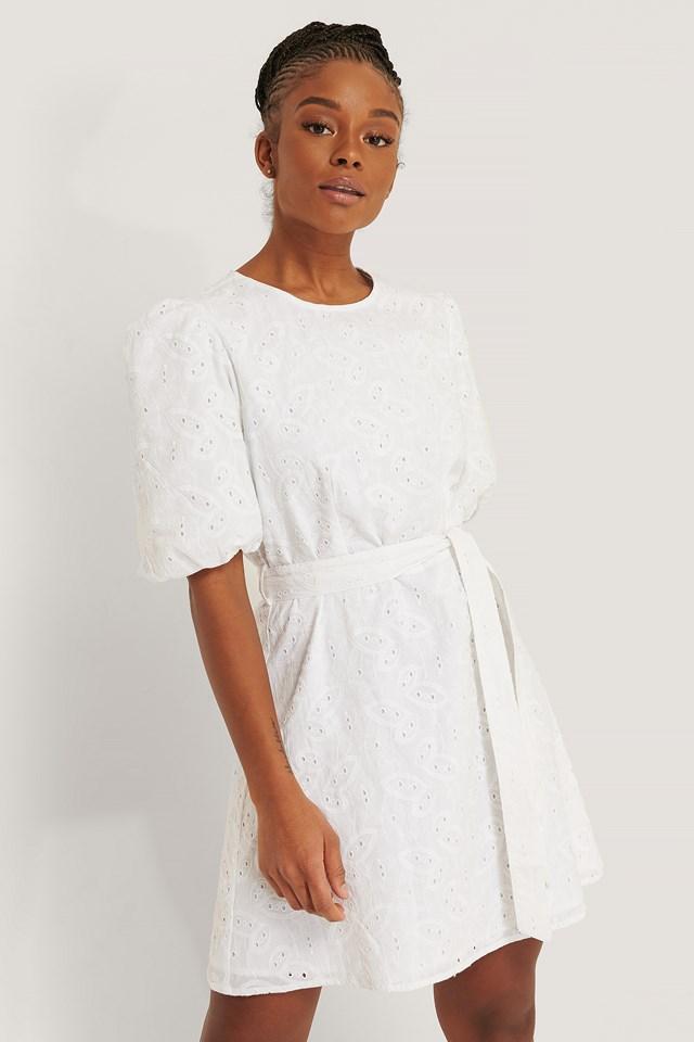 Embroidery Cotton Dress White