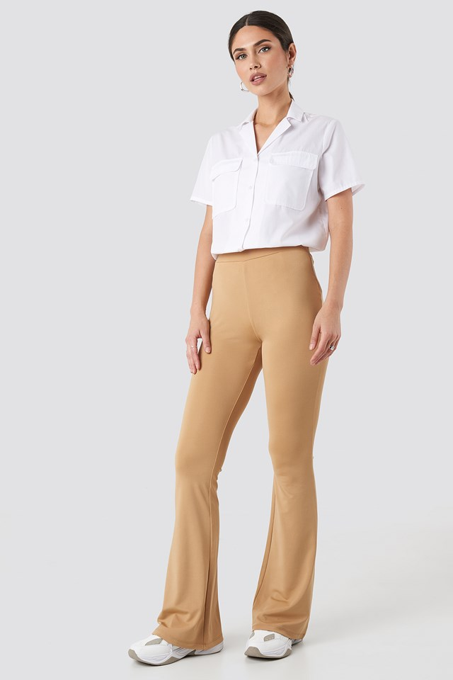 Flared Leggings Tan