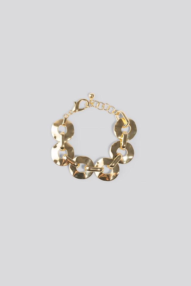 Flat Chain Bracelet Gold