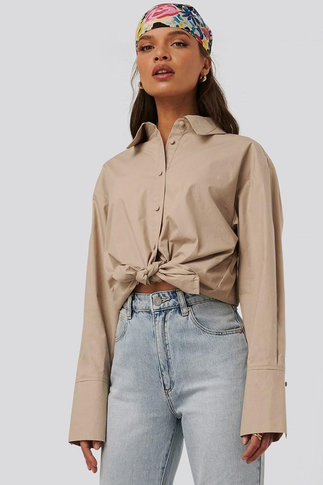 Flowery Shirt Beige