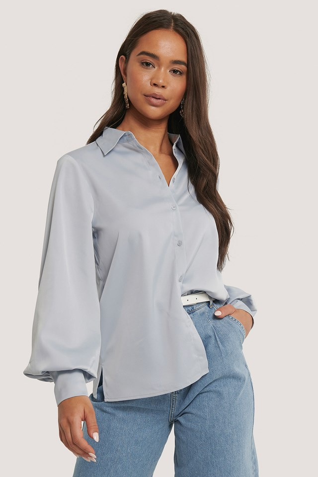 Flowy Oversized Shirt Light Blue