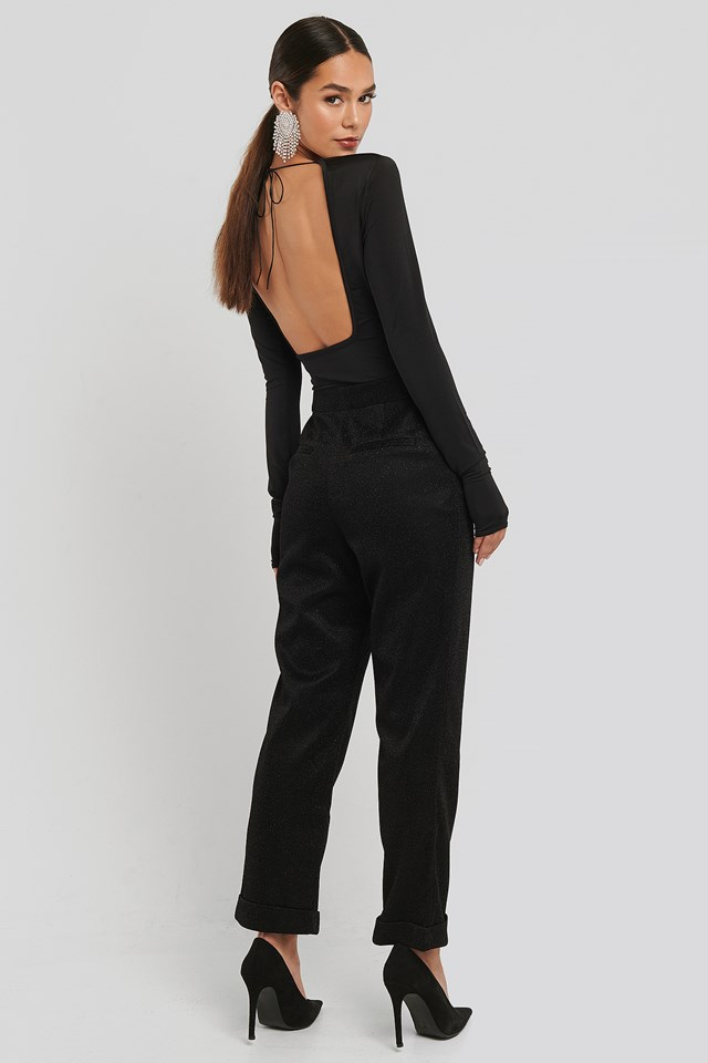 Glittery Pants Black