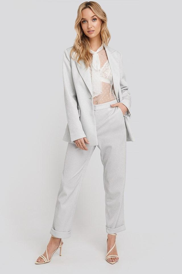 Silver Glittery Pants