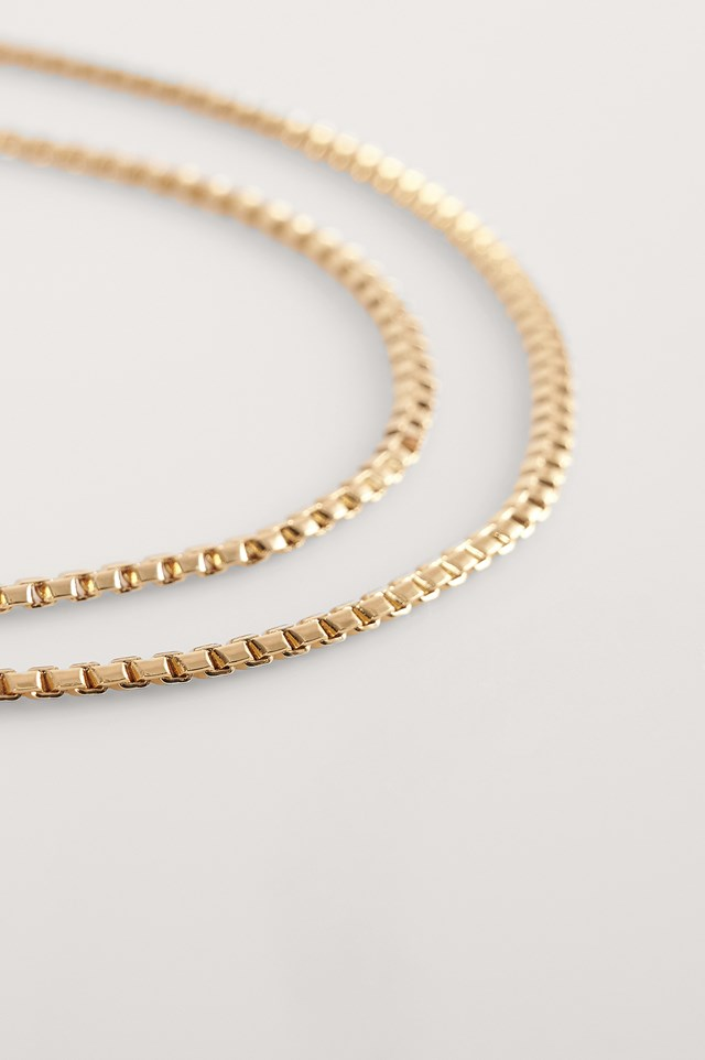 Gold Gold Plated Chain Necklaces