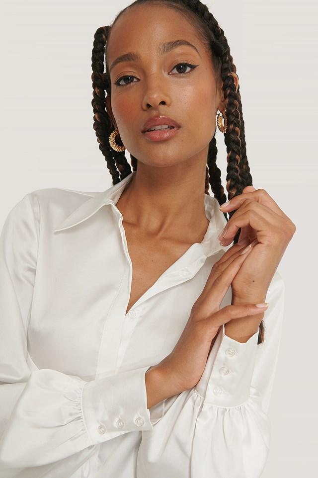 Hidden Button Shirt Off White