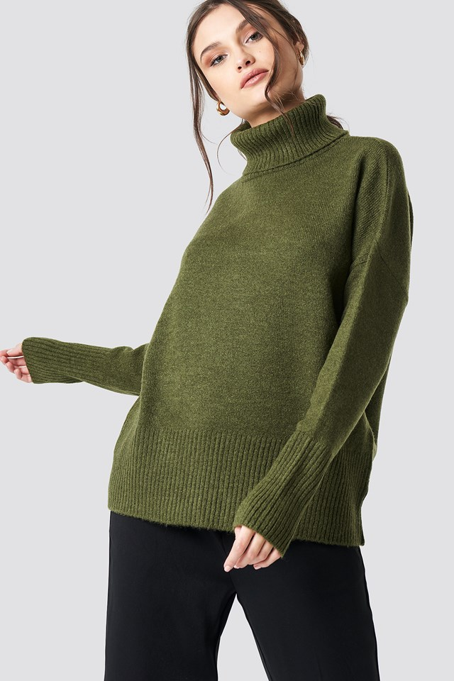 Sweter Golfowy Green