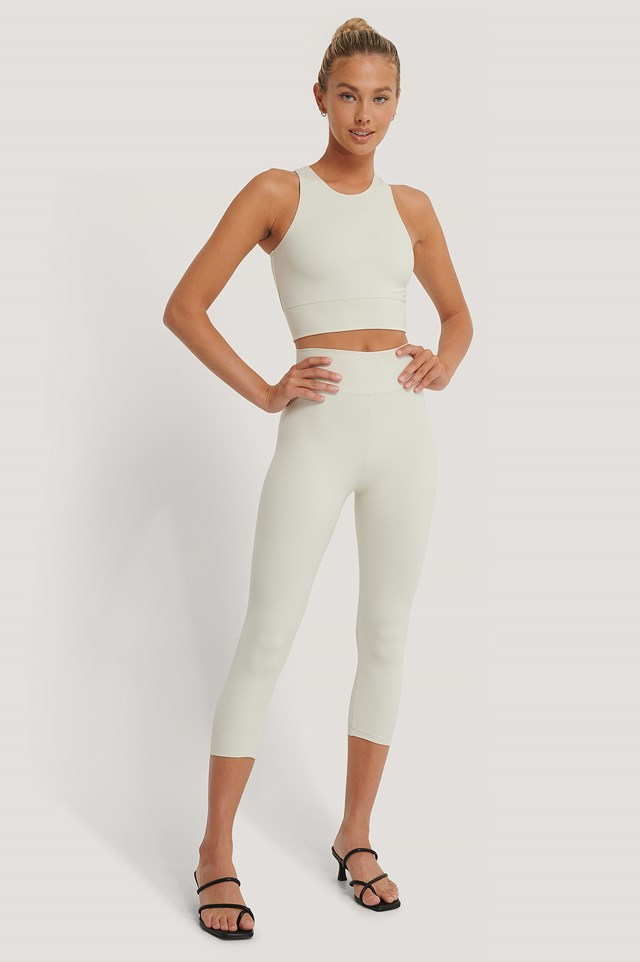 Highwaist Mid Leggings Beige