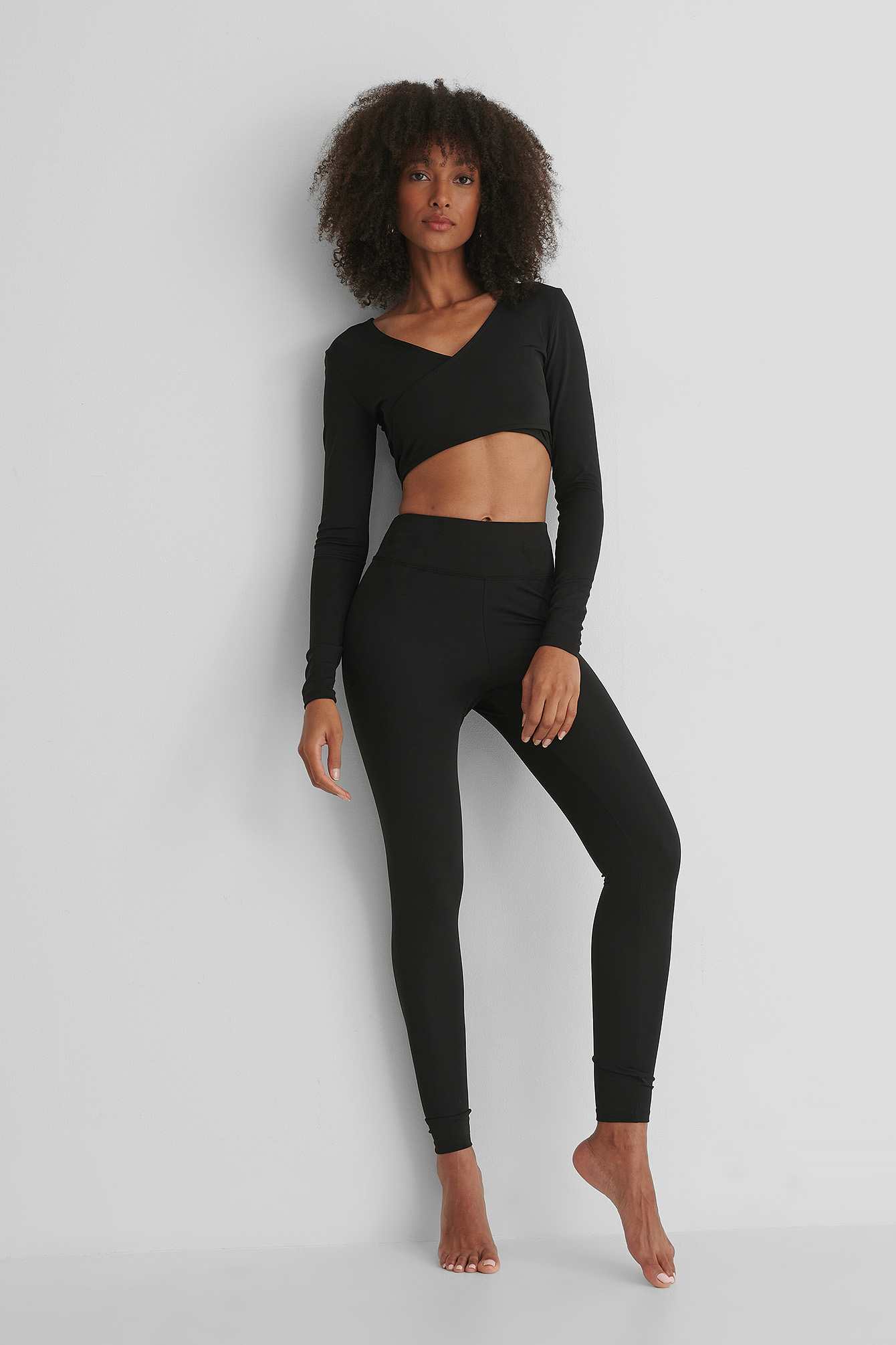 Black Highwaist Sporty Tights