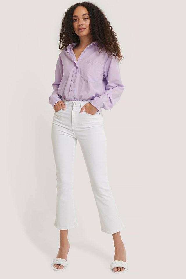 Kick Flare Skinny Jeans White