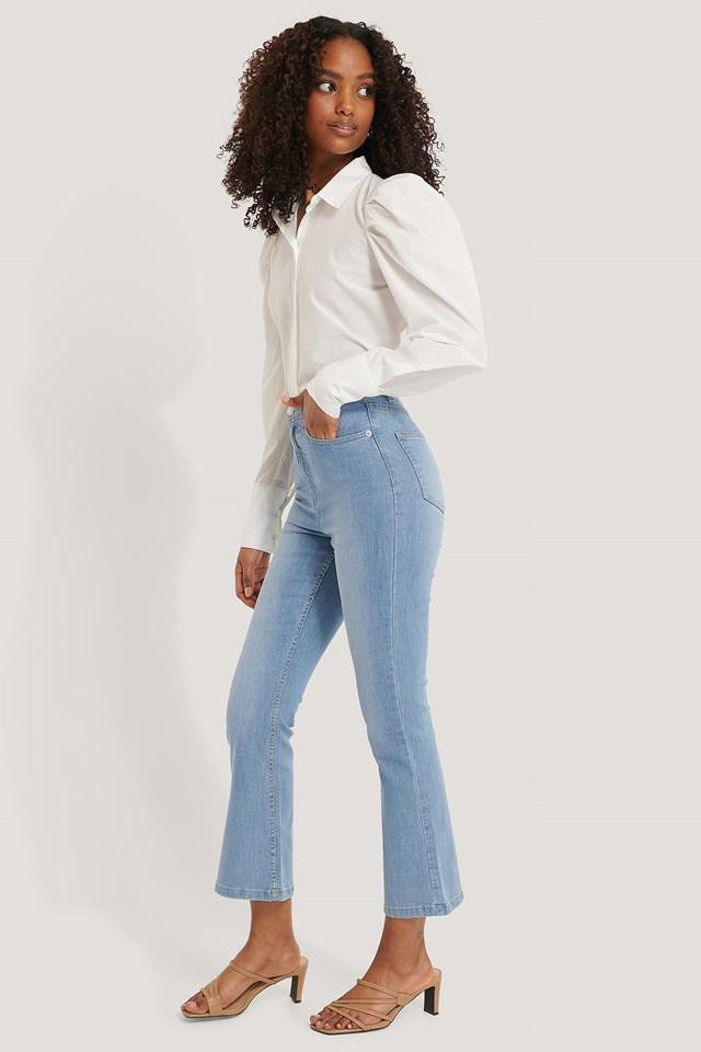 Kick Flare Skinny Jeans Light Blue
