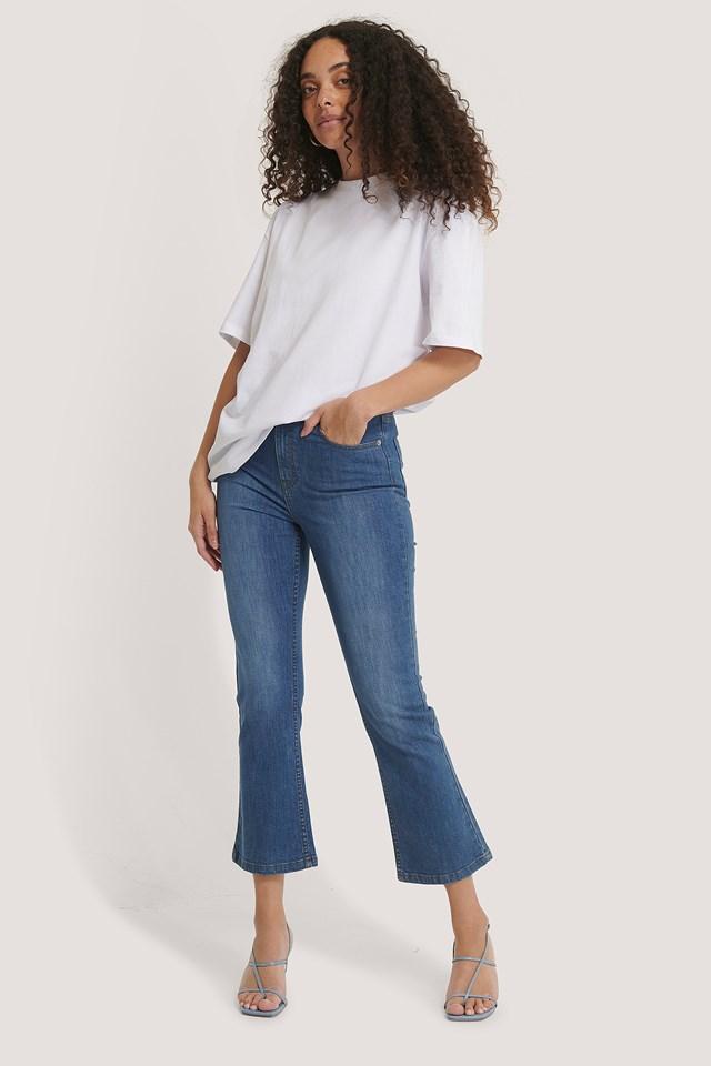 Kick Flare Skinny Jeans Mid Blue
