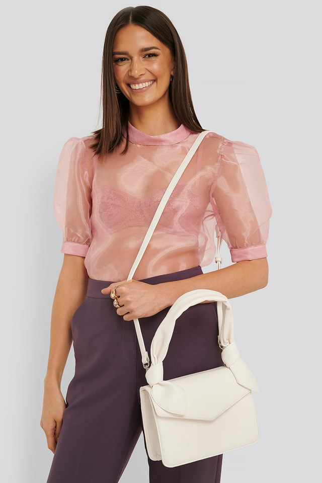 Knot Envelope Crossbody Bag Offwhite