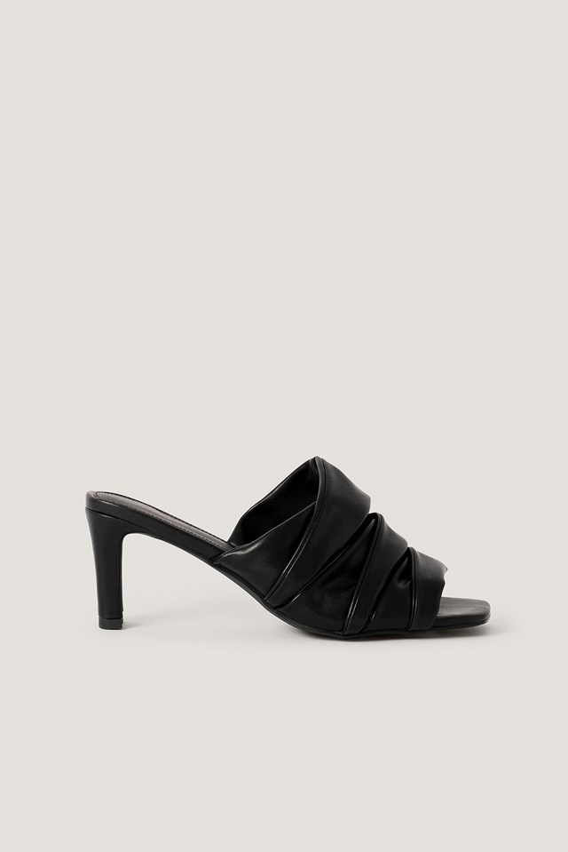Layered Upper Mules Black