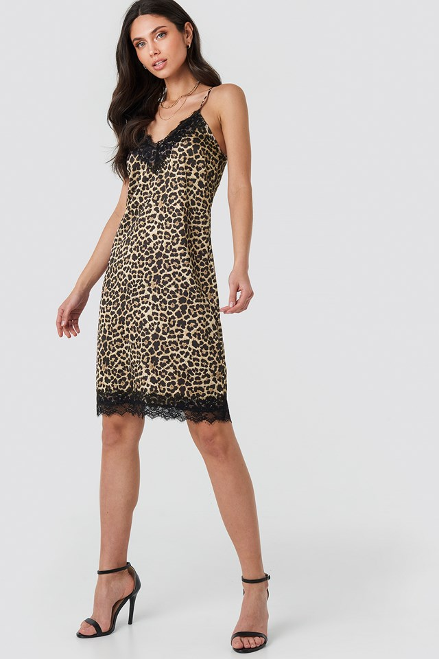 Leoprint Leo Slip Dress