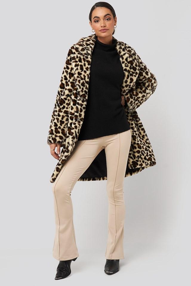 Leopard Faux Fur Jacket Leopard