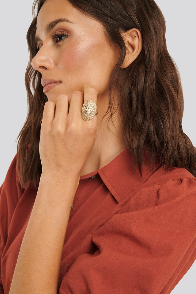 Lepeta Shell Ring Gold