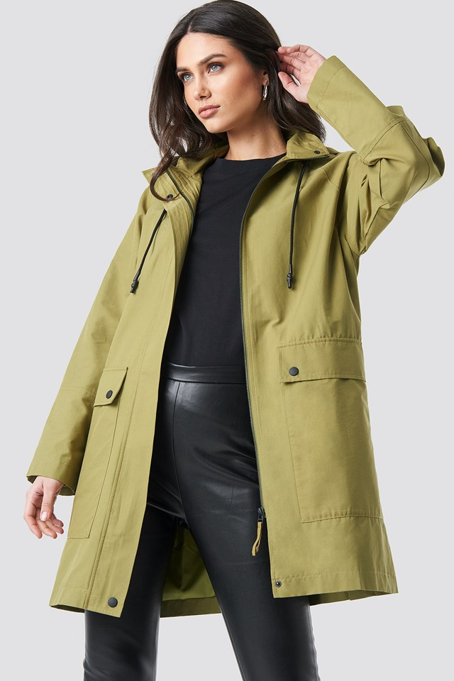 Lightweight Hooded Parka Green