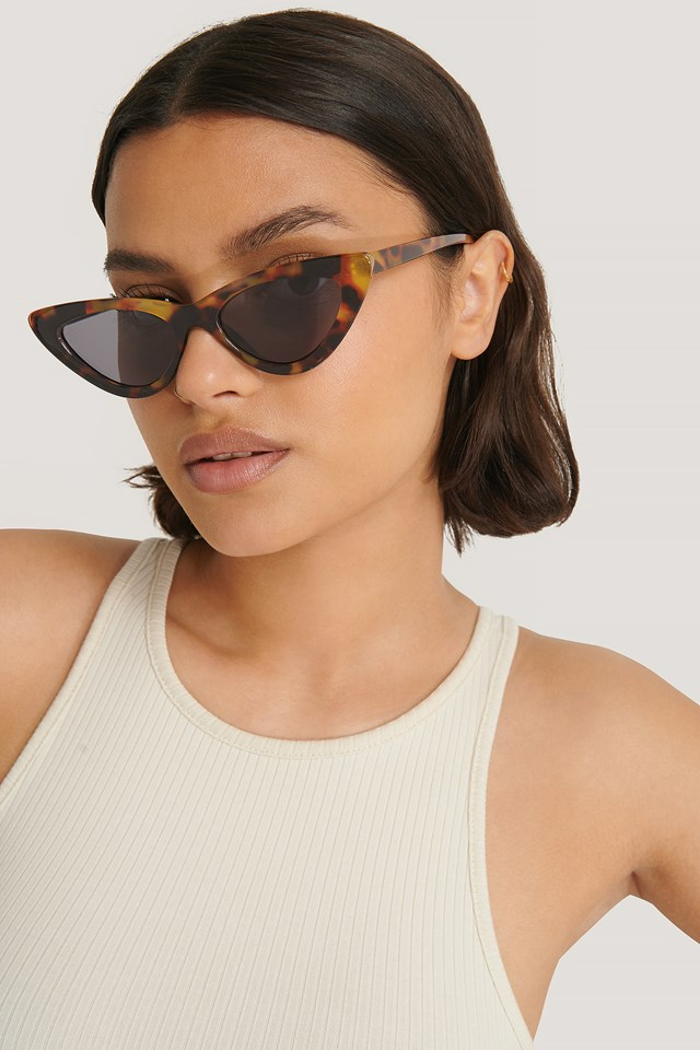 Long Edge Cateye Sunglasses Tortoise/Brown