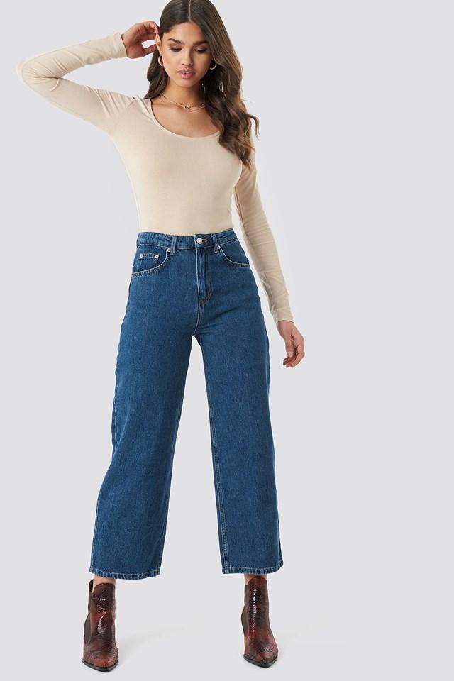 Loose Leg Jeans Dark Blue