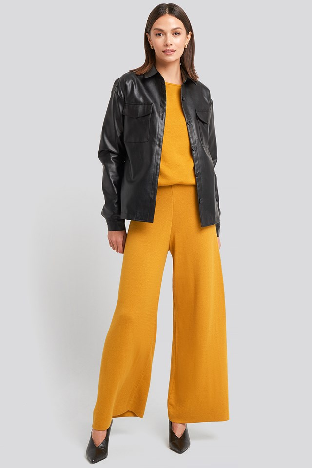 Mustard Lounge Wide Leg Pants