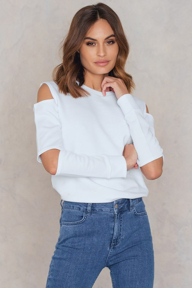 Maren Wolf Sweater White