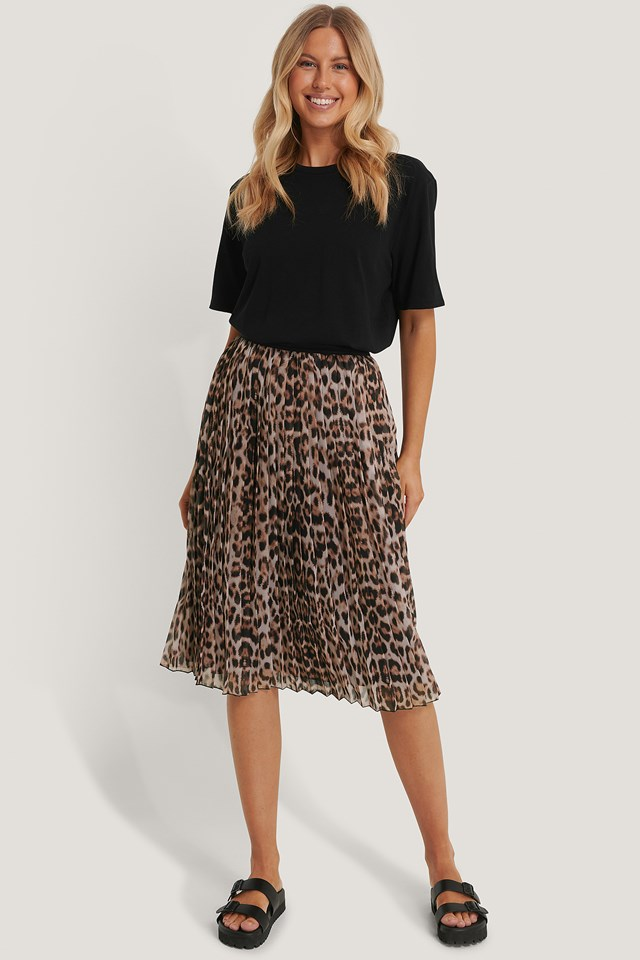 Leo Midi Pleated Skirt