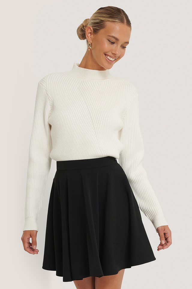 Black Mini Circle Skirt