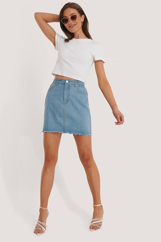 Mini Denim Skirt Light Blue