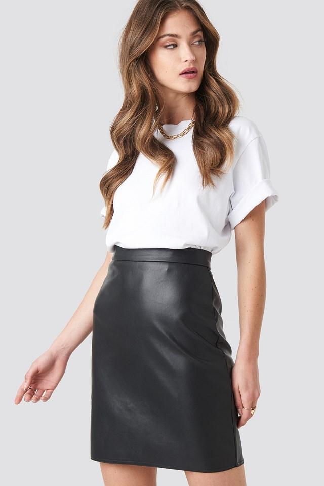 Mini PU Skirt Black
